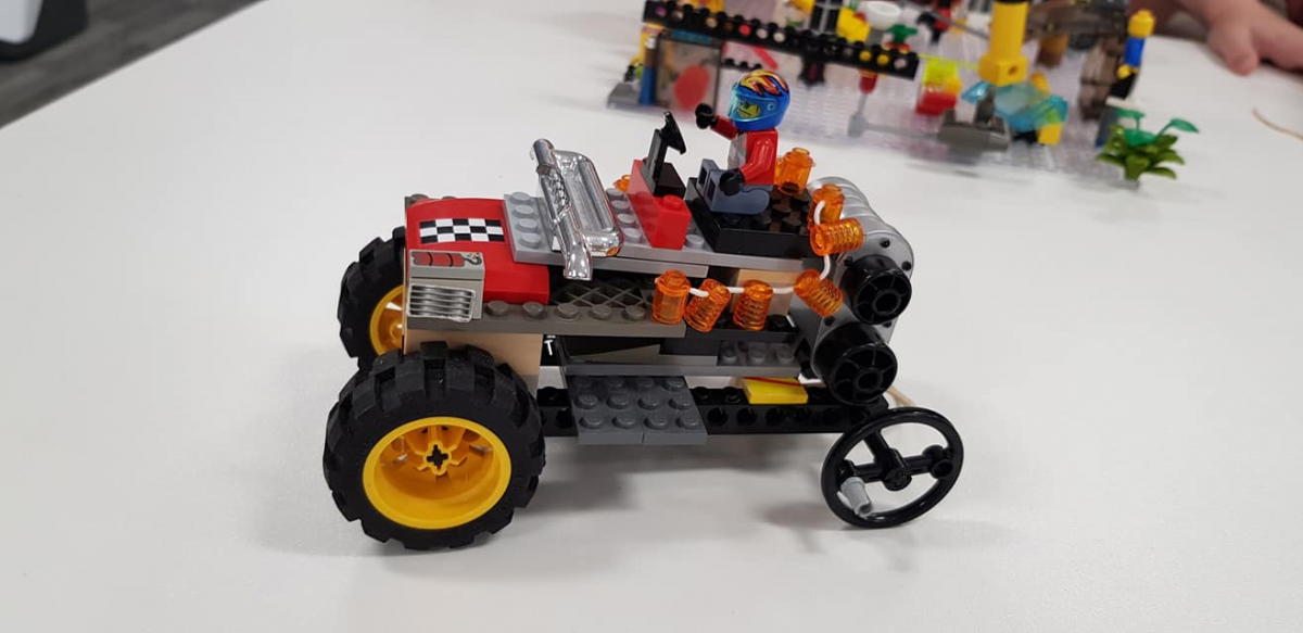 Lego car made at Lego challenge